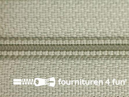 Niet deelbare nylon rits 3mm heel licht grijs