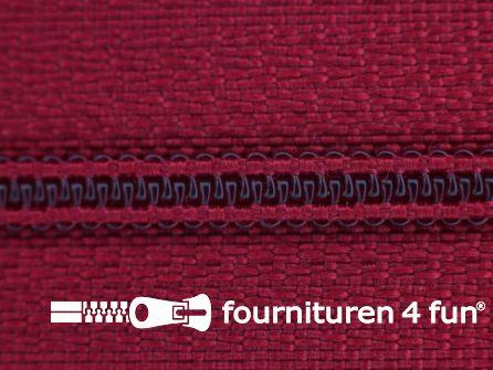 Niet deelbare nylon rits 3mm kersenrood