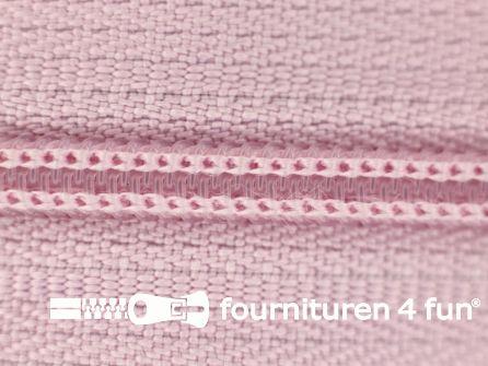 Niet deelbare nylon rits 3mm roze