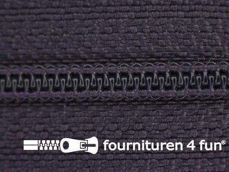 Niet deelbare nylon rits 3mm donkerpaars