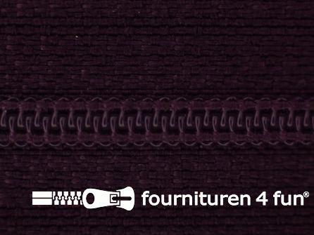 Niet deelbare nylon rits 3mm heel donker paars