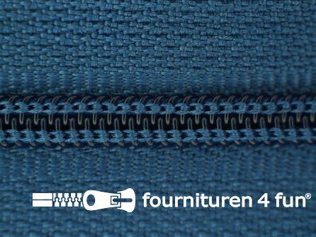 Niet deelbare nylon rits 3mm licht koningsblauw