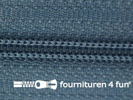 Niet deelbare nylon rits 3mm jeans blauw