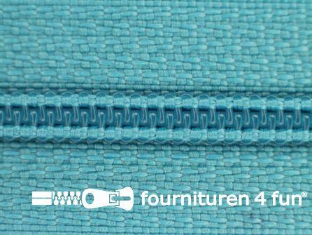 Niet deelbare nylon rits 3mm licht aquablauw