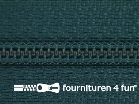 Niet deelbare nylon rits 3mm petrolblauw