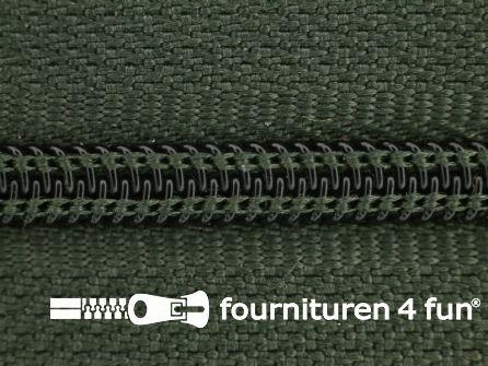 Niet deelbare nylon rits 3mm jagersgroen