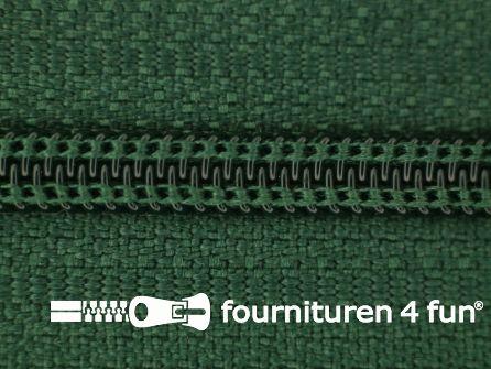 Niet deelbare nylon rits 3mm flessen groen