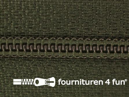 Niet deelbare nylon rits 3mm donker jagersgroen