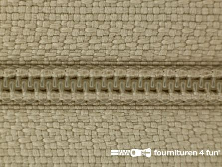 Niet deelbare nylon rits 3mm safari beige