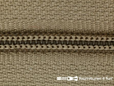 Niet deelbare nylon rits 3mm havanna bruin