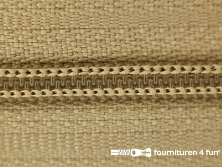 Niet deelbare nylon rits 3mm licht camelbeige
