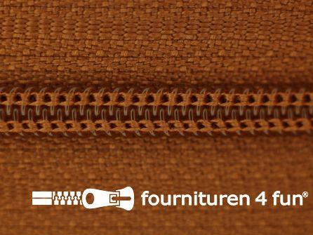 Niet deelbare nylon rits 3mm roest bruin