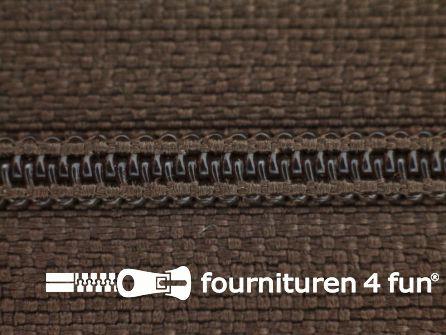 Niet deelbare nylon rits 3mm donker taupe