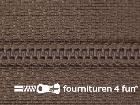 Niet deelbare nylon rits 3mm licht taupe