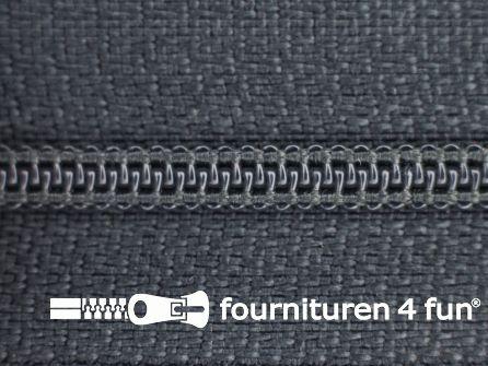 Niet deelbare nylon rits 3mm antraciet