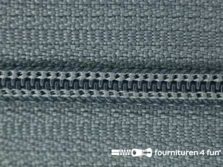 Niet deelbare nylon rits 3mm muis grijs