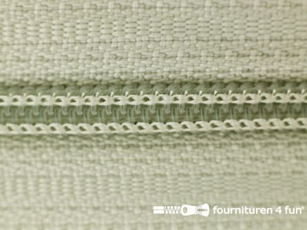 Niet deelbare nylon rits 3mm licht grijs