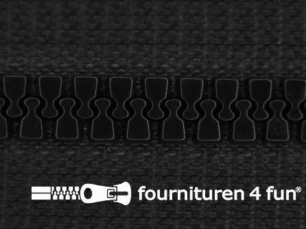 Niet deelbare bloktand rits 6mm zwart