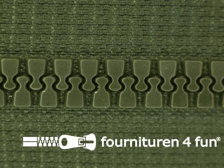 Niet deelbare bloktand rits 6mm leger groen