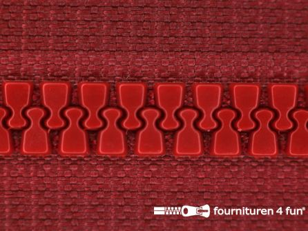 Niet deelbare bloktand rits 6mm bordeaux rood