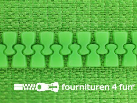 Deelbare bloktand rits 6mm met 2 schuivers fel groen