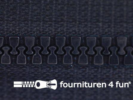 Deelbare bloktand rits 6mm met 2 schuivers marine blauw