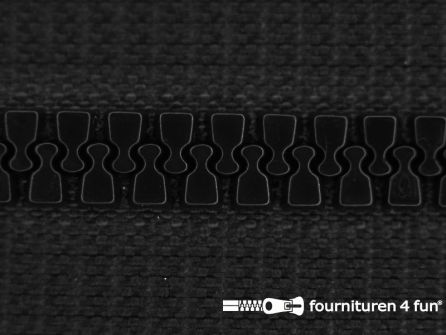 Deelbare bloktand rits 6mm met 2 schuivers zwart