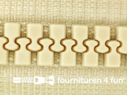 Deelbare bloktand rits 8mm licht beige