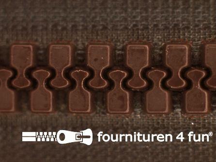 Deelbare bloktand rits 8mm donker bruin
