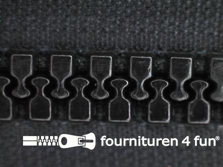 Deelbare bloktand rits 8mm zwart