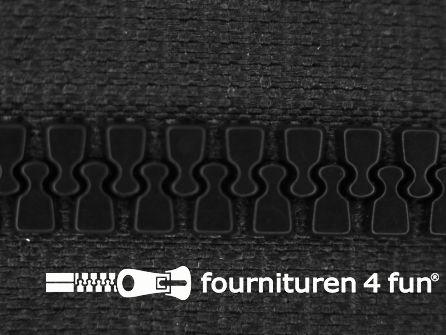Deelbare bloktand rits 6mm donker grijs