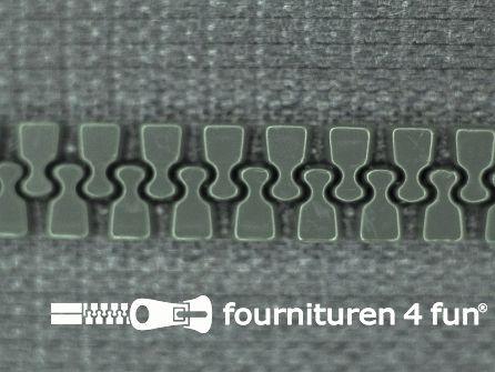 Deelbare bloktand rits 6mm midden grijs