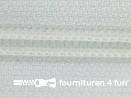 Deelbare spiraal rits nylon 5mm wit
