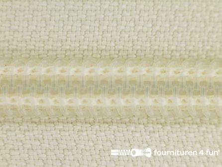 Deelbare spiraal rits nylon 5mm ecru