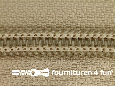 Deelbare spiraal rits nylon 5mm khaki beige