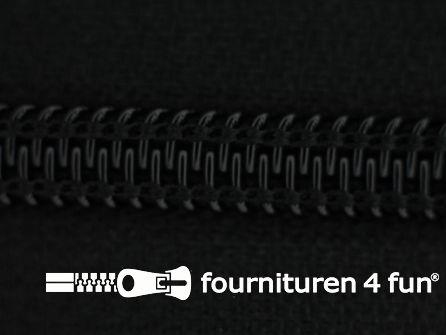 Deelbare spiraal rits nylon 5mm zwart