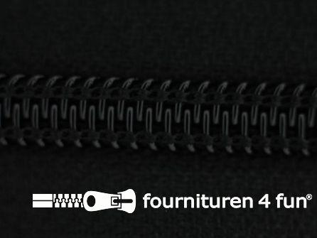 Deelbare spiraal rits 7mm met 2 schuivers zwart