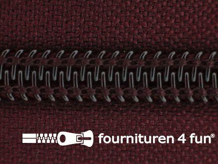 Deelbare spiraal rits nylon 5mm bordeaux rood