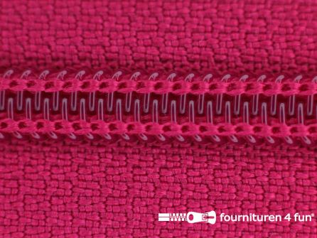 Deelbare spiraal rits nylon 5mm fuchsia roze