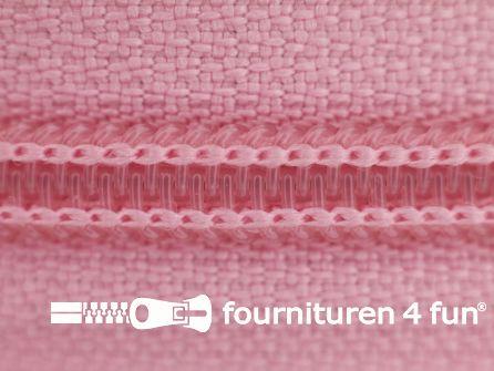 Deelbare spiraal rits nylon 5mm licht roze