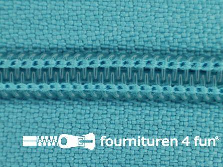Deelbare spiraal rits nylon 5mm aqua blauw