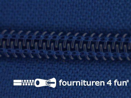 Deelbare spiraal rits 6mm met 2 schuivers kobalt blauw