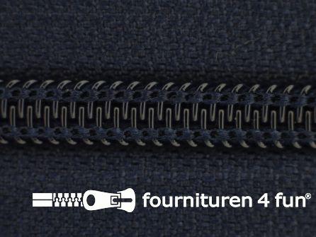 Deelbare spiraal rits nylon 5mm donker blauw