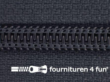 Deelbare spiraal rits nylon 5mm donker grijs