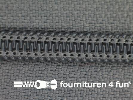 Deelbare spiraal rits nylon 5mm donker muisgrijs