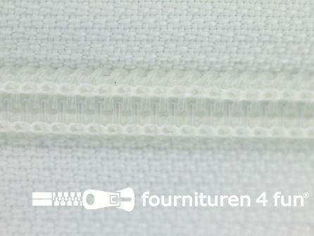 Deelbare spiraal rits 6mm met 2 schuivers wit