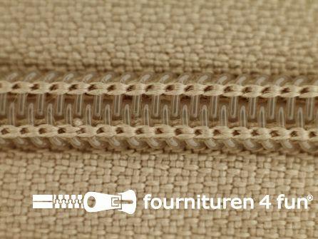 Deelbare spiraal rits nylon 5mm safari beige