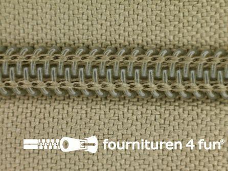 Deelbare spiraal rits nylon 5mm zand