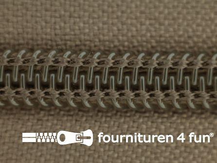 Deelbare spiraal rits nylon 5mm toupe bruin