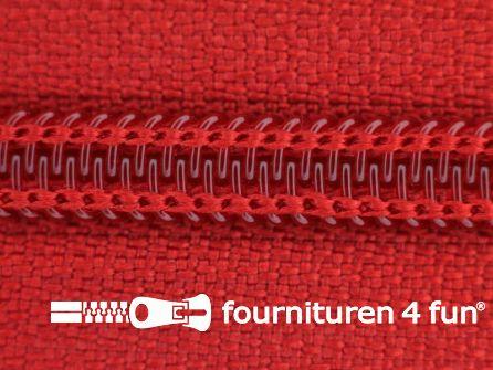 Deelbare spiraal rits nylon 5mm rood